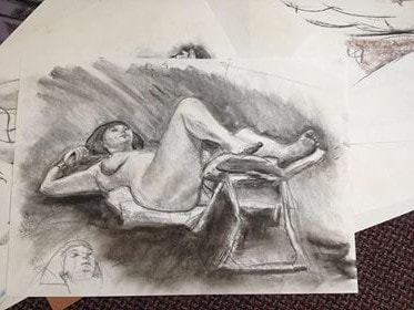 Life Drawing Day - TRISH JUBB Art Classes for All Abilities